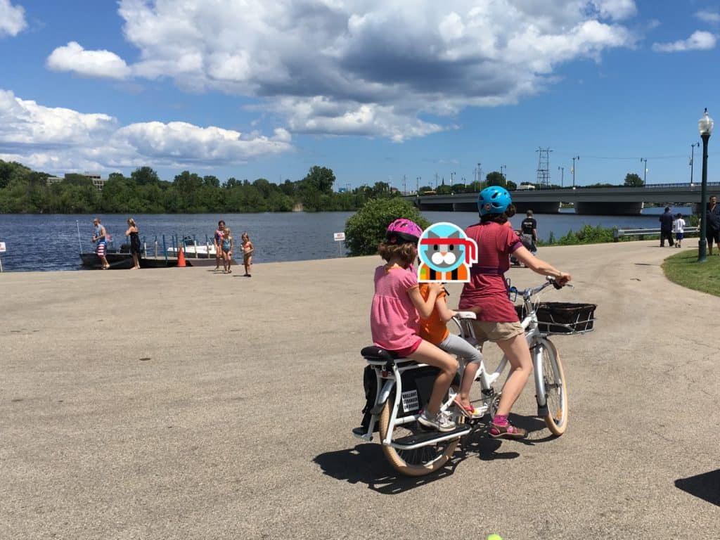 picture of our first cargo bike ride
