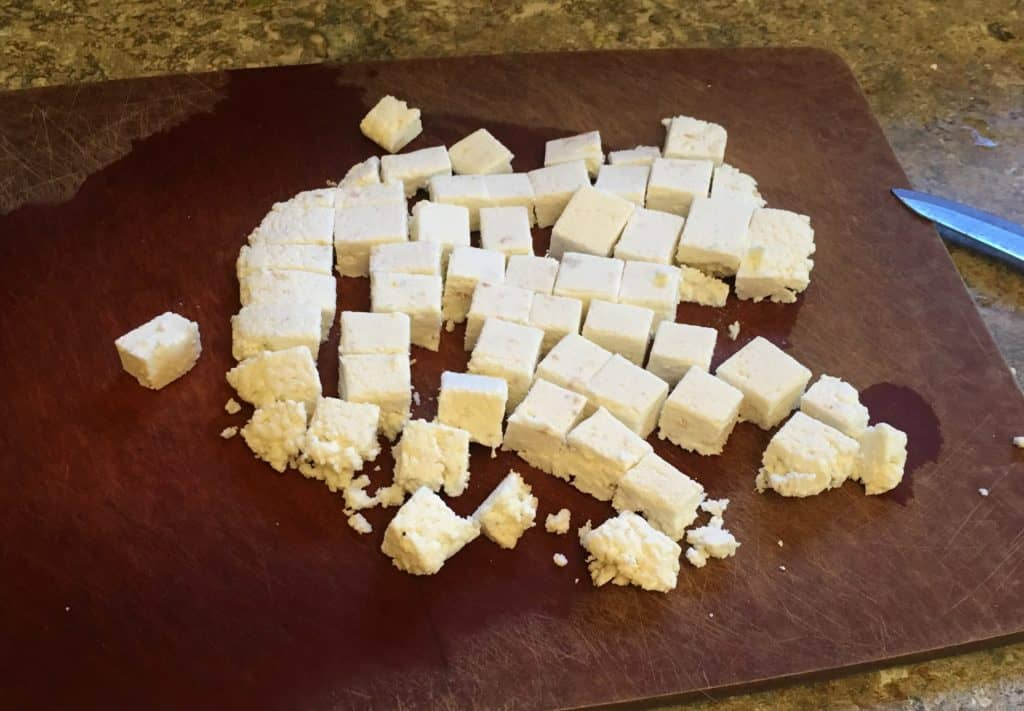 picture of homemade paneer