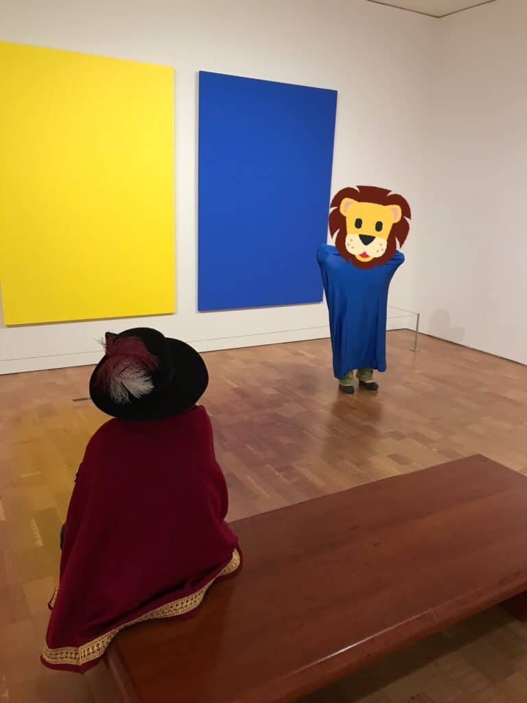 Picture of kids in an art museum. this family of five spent less than $2,000 on entertainment in 2019