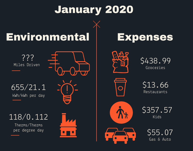money well spent January 2020 infographic with categories