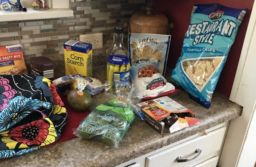 picture of grocery haul