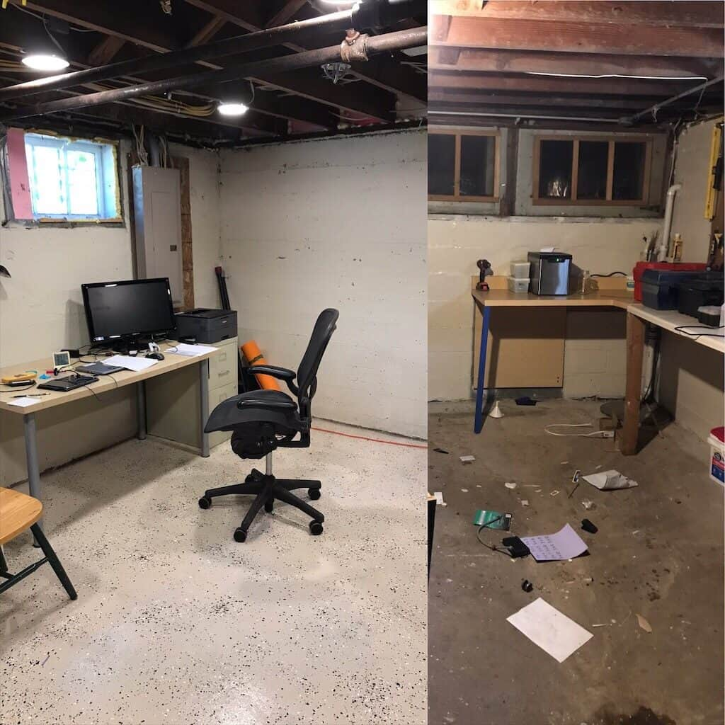 photo of our basement