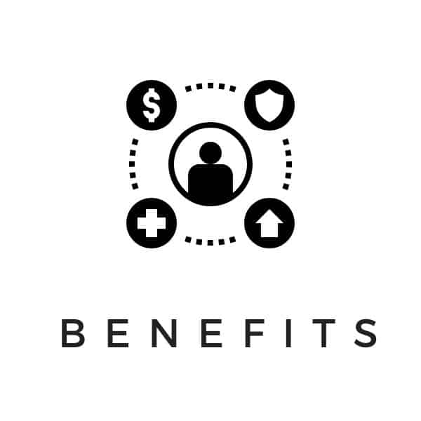 Benefits word art