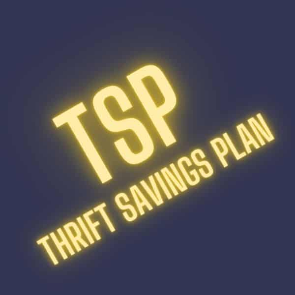 TSP thrift savings plan word art
