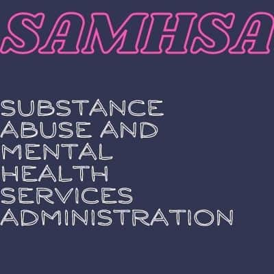 SAMHSA word art- Substance abuse and mental health services administration