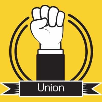 Labor union clenched fist.