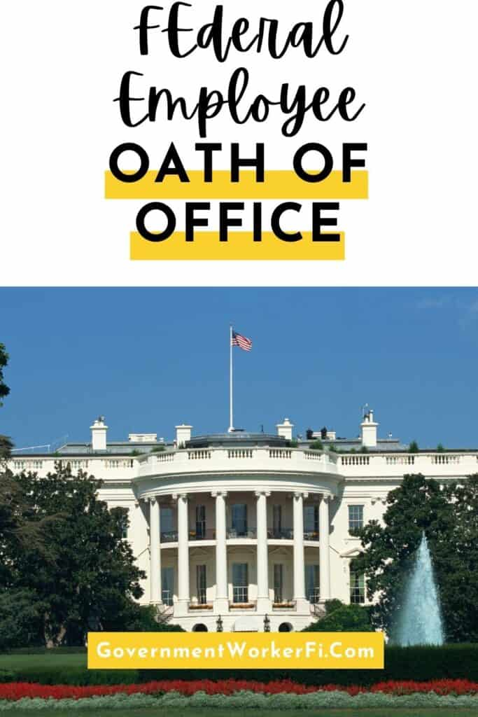 Federal employees oath of office pinterest pin