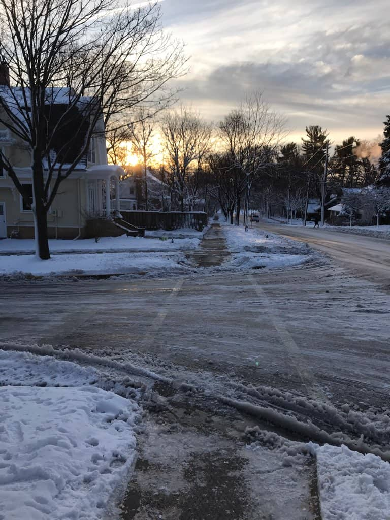 Image of Madison streets after a snowfall