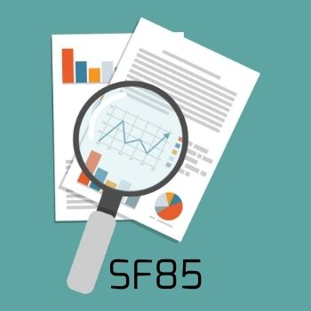 SF85- Background check for federal employees graphic