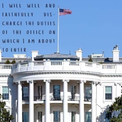 """oath of office text """"i will I will well and faithfully discharge the duties of the office on which I am about to enter"""