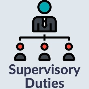 Supervisory Duties graphic