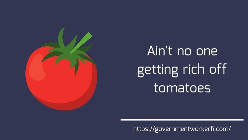 Ain't nobody getting rich off tomatoes. (Why you shouldn't use Twitter for financial advice)